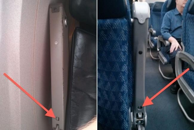 Dưới thanh dựa tay ghế sẽ tồn tại 1 nút bấm hoặc cần gạt nhỏ.