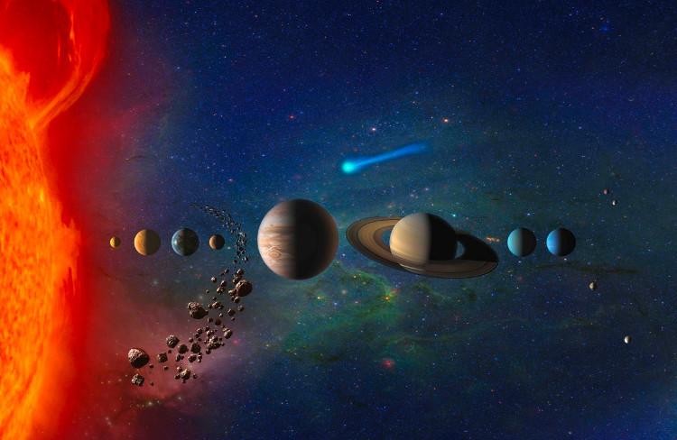 Hiện nay hệ Mặt Trời được phân loại có 8 hành tinh.
