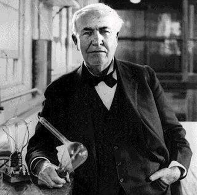 Thomas Edison - nhà phát minh đại tài người Mỹ.
