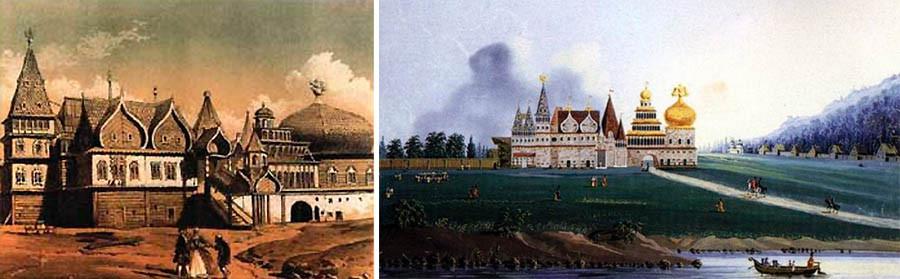 Đây là một cảnh tượng huy hoàng của những khu đất hoàng gia và những khu nhà thờ của Kolomenskoye