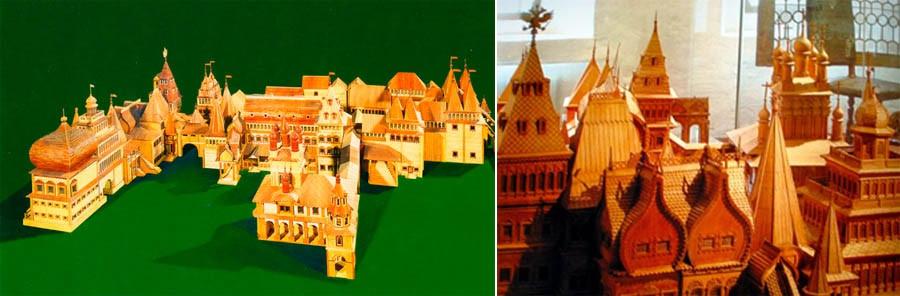 Thứ gợi nhớ cho người ta về cung điện xưa kia chỉ còn lại duy nhất một mô hình bằng gỗ được làm tinh xảo và rất chi tiết.