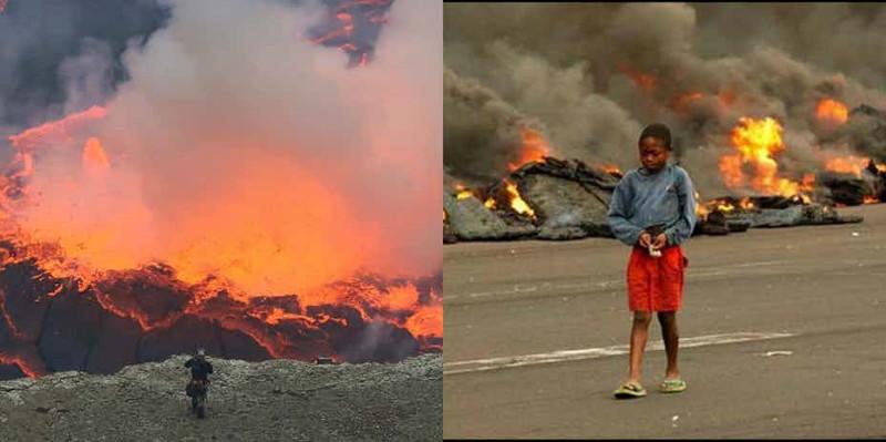 Núi lửa Nyiragongo ở Goma, Cộng hòa dân chủ Congo được đánh giá là khủng khiếp.