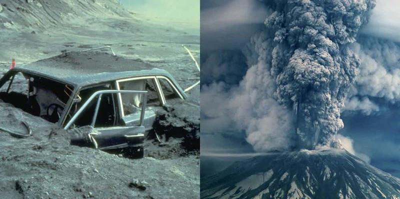 """Mặc dù núi lửa St. Helens ở Mỹ không thường xuyên """"thức giấc"""" nhưng mỗi lần nó hoạt động đều để lại hậu quả kinh hoàng."""