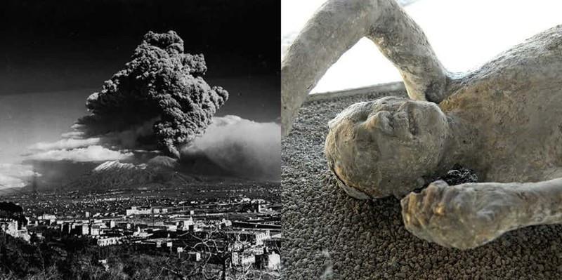 Núi lửa Vesuvius phun trào khủng khiếp nhất năm 79.