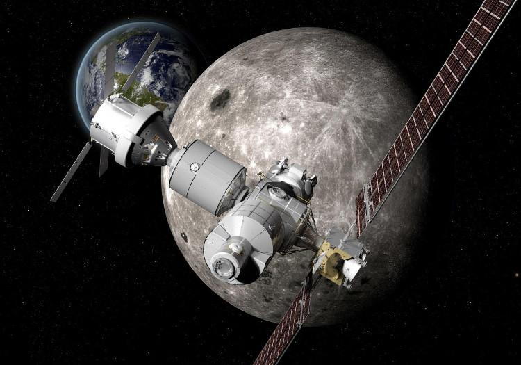 Trạm Deep Space Gateway sẽ quay quanh Trái Đất và Mặt Trăng.