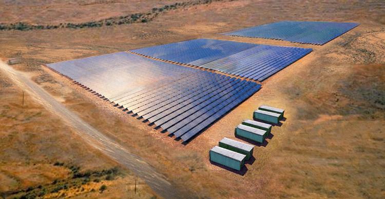 Toàn cảnh cánh đồng năng lượng Mặt Trời có công suất cao nhất thế giới đặt tại Nam Úc.