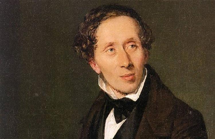 Christian Andersen, nhà văn thiếu nhi nổi tiếng.