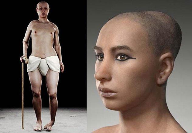 Tutankhamun - vị pharaoh nổi tiếng Ai Cập.