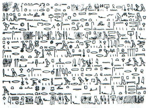 Bản sao chép sách giấy cói Tulli bằng chữ tượng hình.