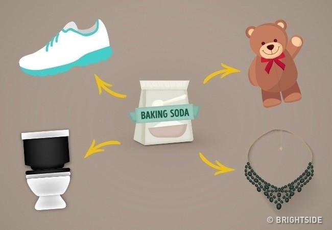 Baking soda có thể làm sạch đồ trang sức, bạc, phụ kiện kim loại...