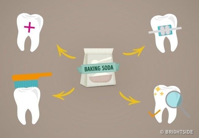 Baking soda giúp điều trị các vết loét, nứt ở miệng.