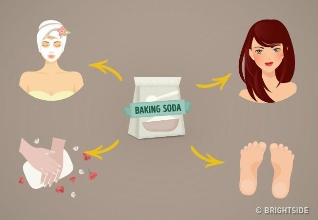 Baking soda có thể ngăn ngừa, loại bỏ mụn và mụn đầu đen.