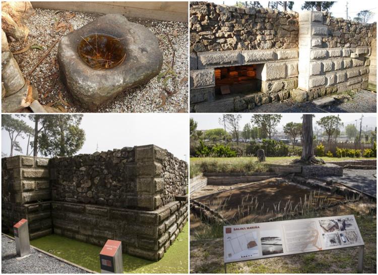 Các di vật và công trình còn lại của Villa de Toralla.