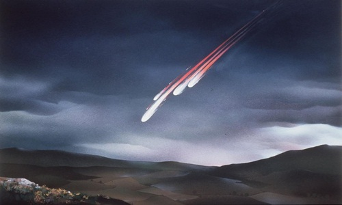 Tiểu hành tinh lớn va chạm với Trái Đất có thể đẩy nhiều vật chất vào không khí, ngăn chặn ánh sáng Mặt Trời