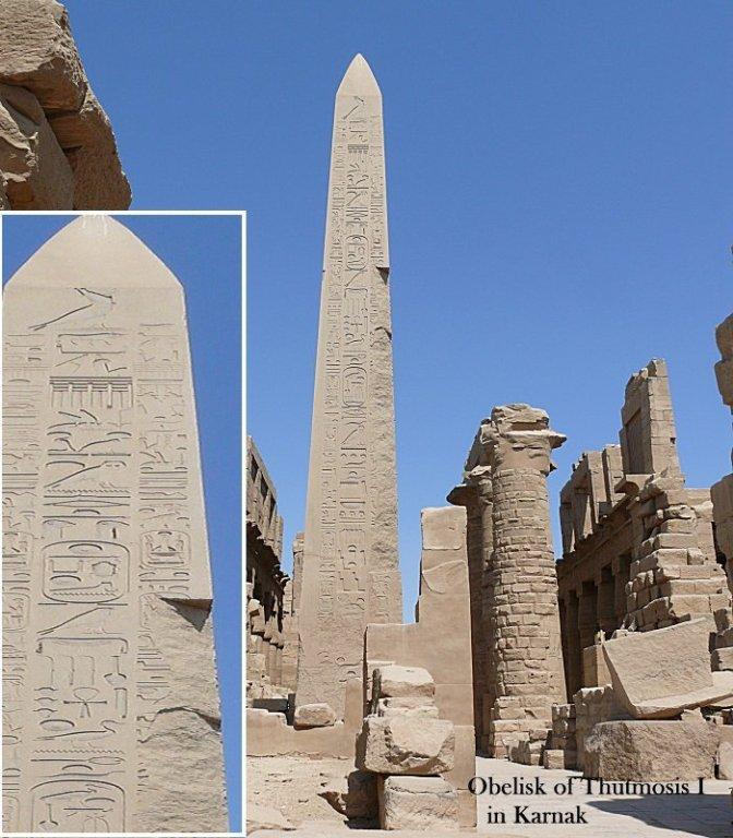 Các tượng đài khổng lồ bằng đá granit đánh bóng tại Ai Cập
