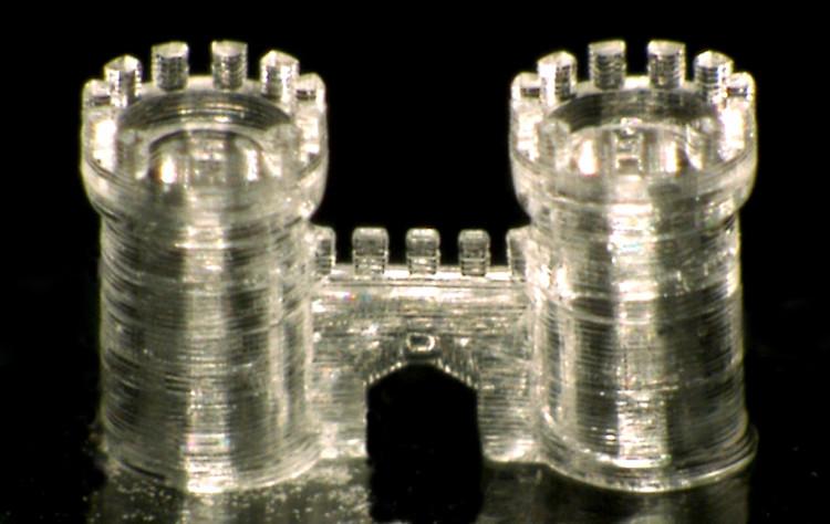 Một sản phẩm thủy tinh được in 3D thành công.