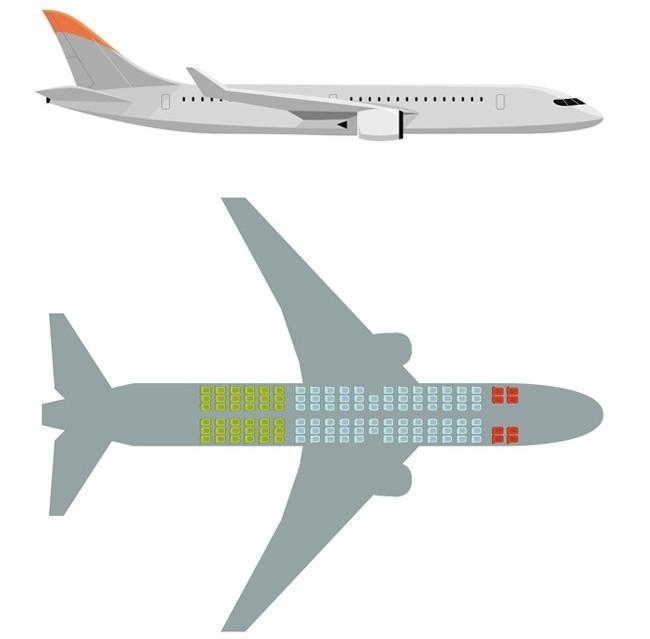 Vị trí ở đuôi máy bay được cho là chỗ ngồi ít rủi ro nhất.