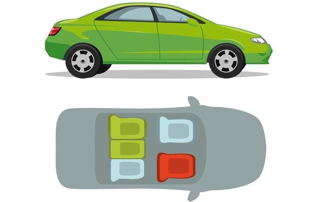 Ghế sau lưng lái xe và ghế ở vị trí chính giữa ở ghế sau là chỗ ngồi an toàn nhất trên xe ô tô con.