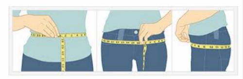 Cách đo vòng eo và vòng hông.