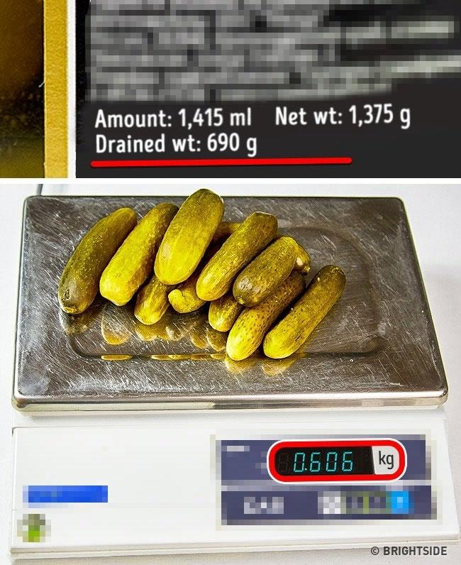 Trong sản xuất và đóng gói hàng hóa vẫn chấp nhận một sự chênh lệch nhỏ trọng lượng tịnh của 1 giá trị sản phẩm nhất định.