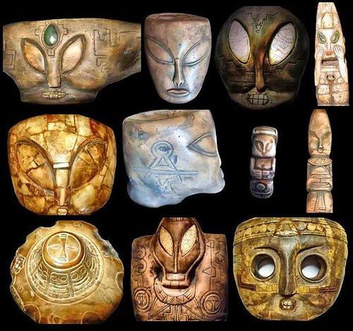 Văn vật và hình ảnh chứng minh sự thật là con người từng tiếp xúc với người ngoài hành tinh.