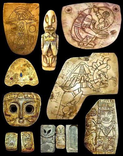 Hình ảnh mô tả người ngoài hành tinh trên nhưng cổ vật để lại của người Maya cổ đại.