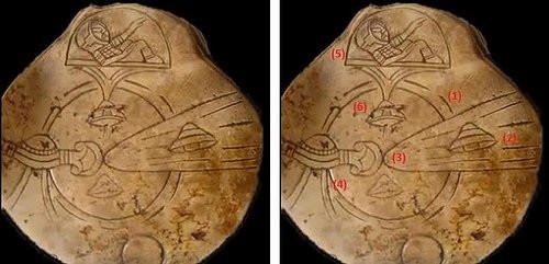 Hình ảnh của miếng đá với nhiều chi tiết kì lạ.