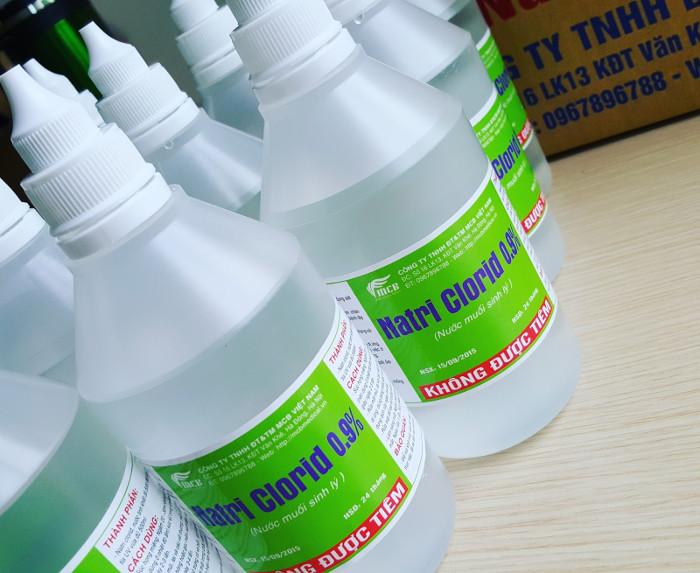Không phải là bất cứ loại nước muối sinh lý nào cũng có thể dùng để tiêm.