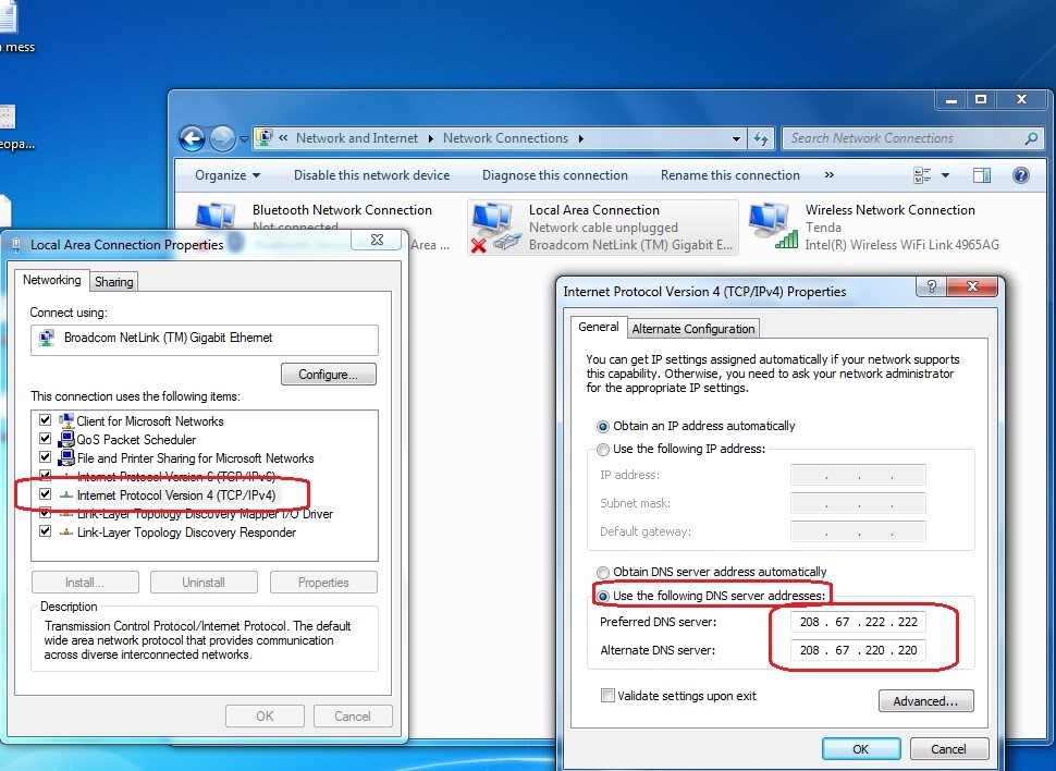 Bạn có thể tiến hành đổi DNS trên máy tính.
