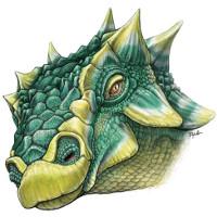 Loài khủng long quái vật cắm đầy sừng gai trên mặt