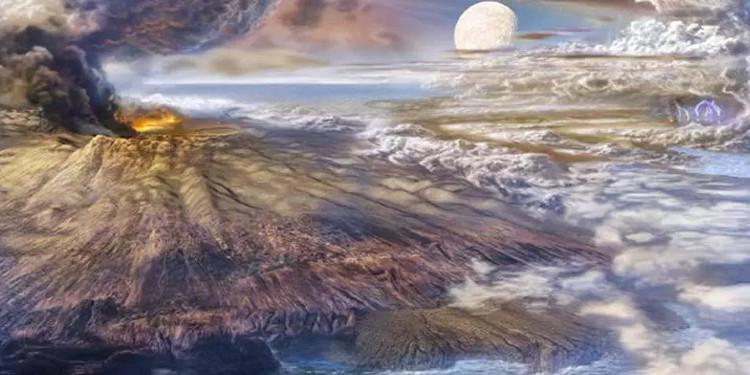 Minh họa Trái đất thuở sơ khai.