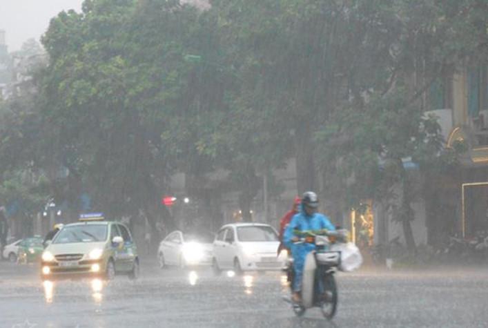 Khu vực Hà Nội nhiều mây, có mưa, có nơi mưa vừa, mưa to và rải rác có dông.
