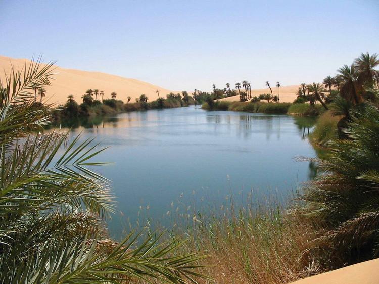 Ốc đảo Ubari - một trong những ốc đảo đẹp nhất vùng Trung Đông.