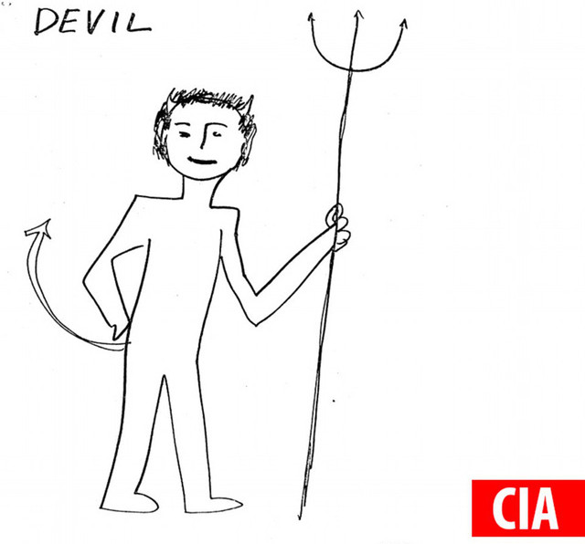 CIA vẽ hình con quỷ
