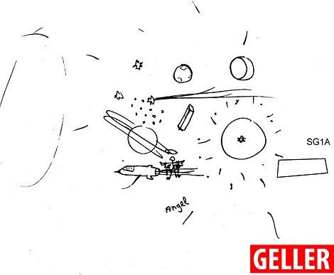 Geller đã đưa ra một hình vẽ gần đúng với hình ảnh vũ trụ