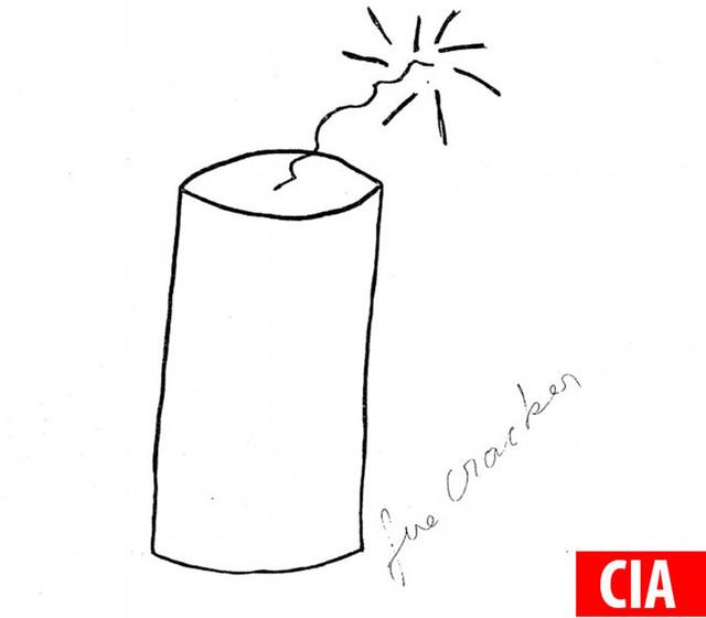 Nhân viên CIA đã vẽ ra một quả pháo.