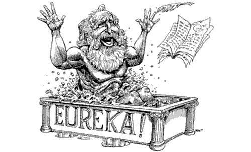 """Archimedes nổi tiếng với câu nói """"Eureka"""" (tìm ra rồi)."""