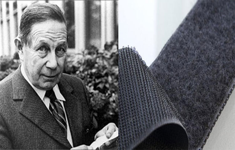 Khoá dính Velcro ra đời khi George de Mestral thấy nhưng bông hoa dính vào quần áo của mình có sợi tua hình cái móc.