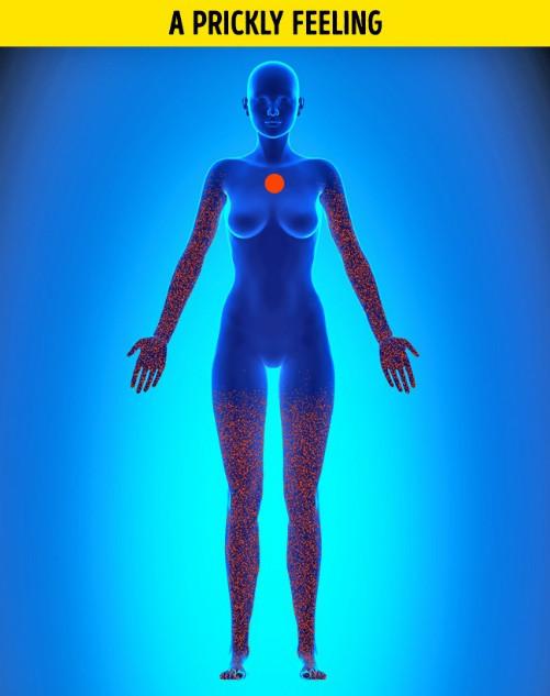 Người bệnh khi hoảng loạn thường đau tập trung ở vùng ngực, không lan sang các bộ phận khác.