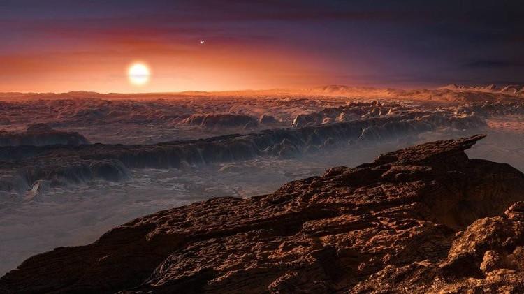 Giả định bề mặt của Proxima b.