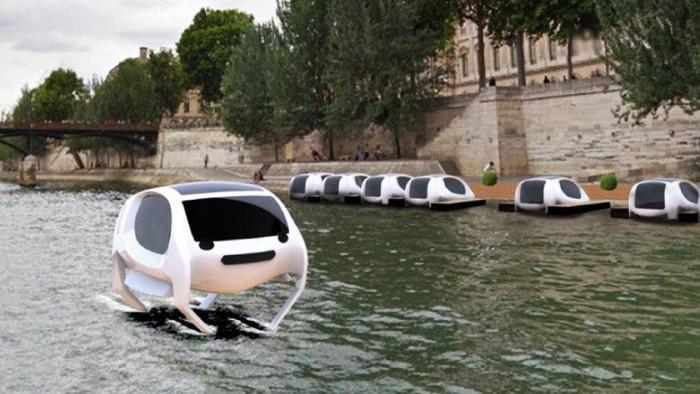 Thiết kế hình dáng taxi Seabubbles.