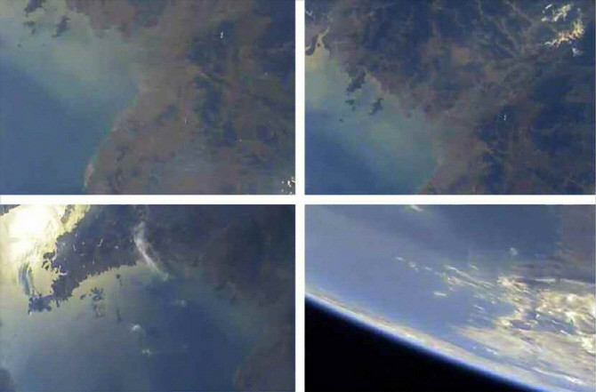 Hình ảnh Trái đất chụp từ không gian Triều Tiên công bố ngày 22/5/2017.