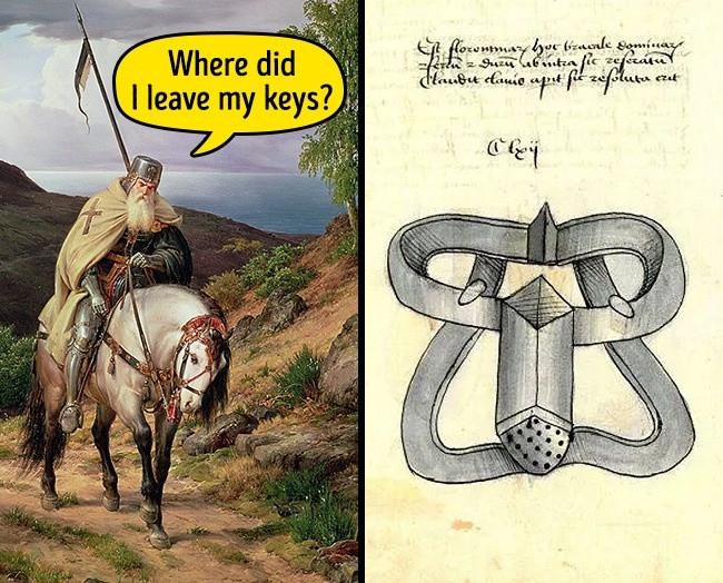 Bản vẽ đầu tiên của chiếc đai trinh tiết trong lịch sử.