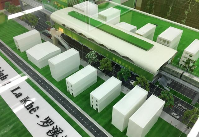 """Nếu hoàn thành đúng như mô hình thiết kế, ga La Khê sẽ đóng góp cho vẻ đẹp rất """"metro"""" của Hà Nội."""