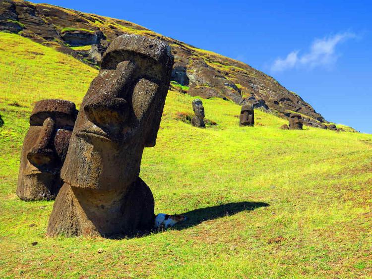 Đảo phục sinh đang lâm nguy vì các bức tượng và cảnh quan nơi này đang bị ảnh hưởng.