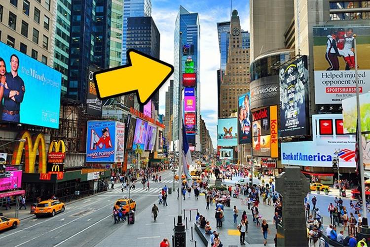 Toà cao ốc vẫn là nơi lắp đặt những màn hình quảng cáo khổng lồ.