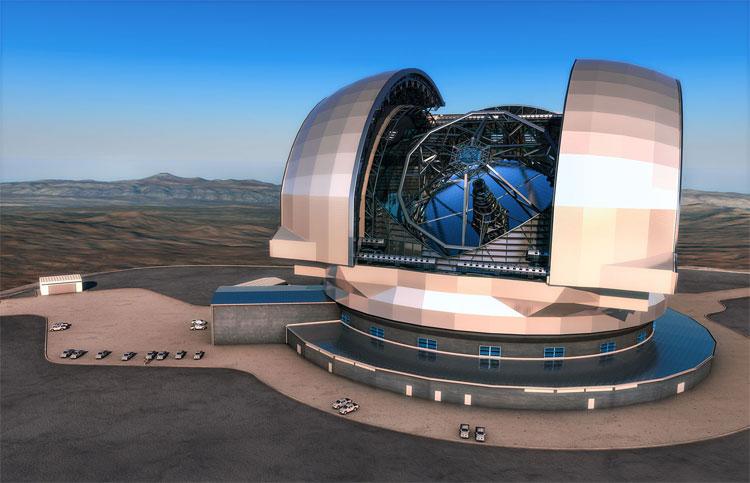 E-ELT là kính viễn vọng quang học và cận hồng ngoại lớn nhất thế giới.