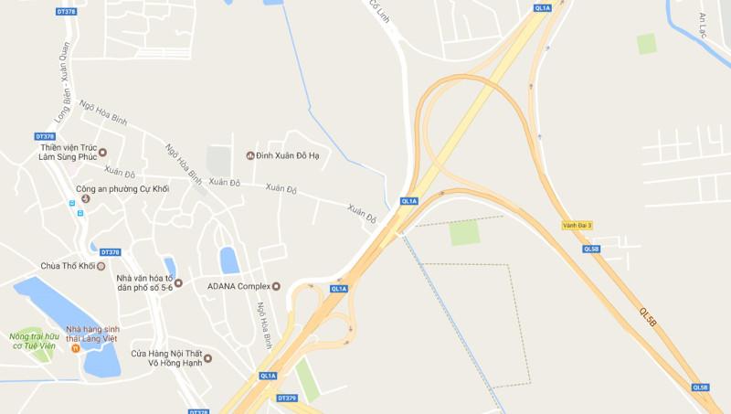 Nút giao Thanh Trì - Cao tốc Hà Nội Hải Phòng.