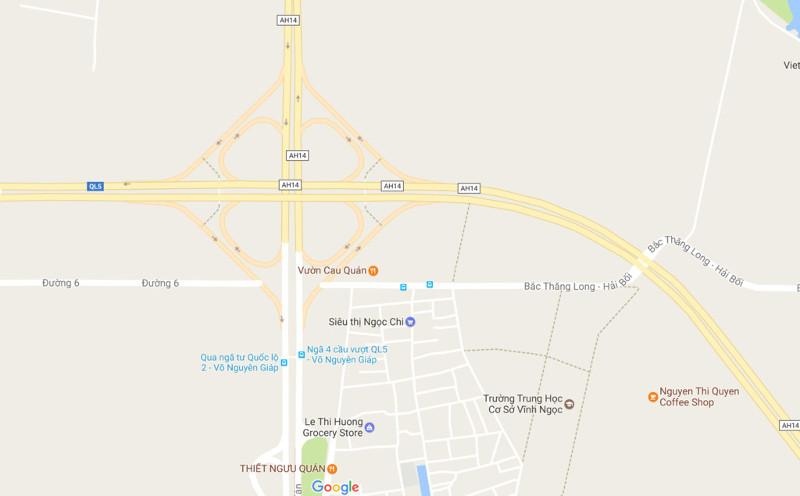 Bản đồ nút giao Võ Nguyên Giáp - Hoàng Sa - Trường Sa.