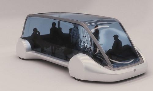 Thiết kế xe buýt trong suốt siêu tốc của Elon Musk.